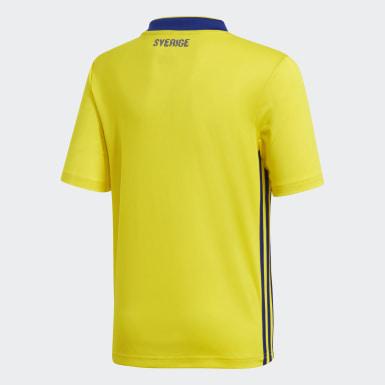 желтый Домашняя игровая футболка сборной Швеции