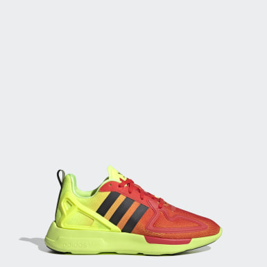 Youth 8-16 Years Originals Yellow ZX 2K Flux Shoes