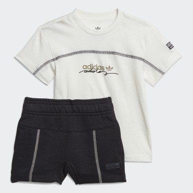 Kids Originals White R.Y.V Shorts and Tee Set