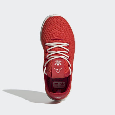 Kids 4-8 Years Originals Red Pharrell Williams Tennis Hu Shoes