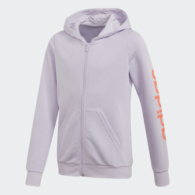 Girls Athletics Purple Linear Hoodie