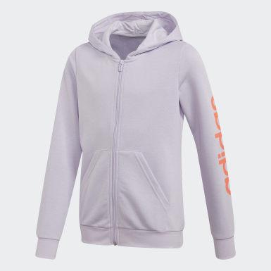Veste à capuche Linear Violet Filles Athletics