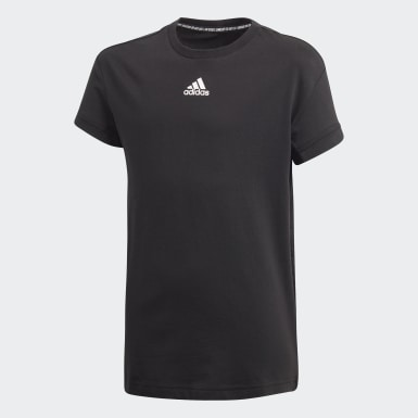 Boys Yoga Black Must Haves 3-Stripes Tee