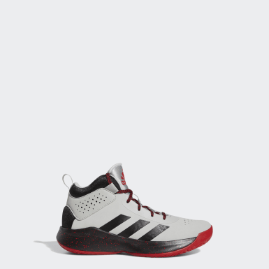 Tenis Cross Em Up 5 Gris Niño Basketball
