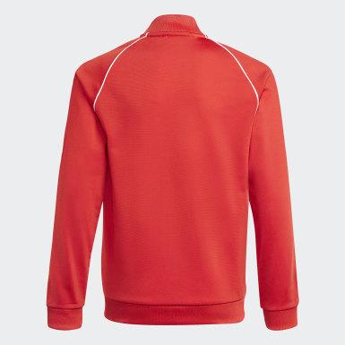 Track jacket adicolor SST Rosso Bambini Originals