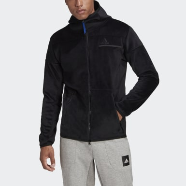 Hoodie adidas Z.N.E. Full-Zip Velour Nero Uomo Athletics