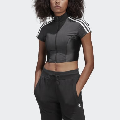 Frauen Originals Paolina Russo Crop-Top Schwarz