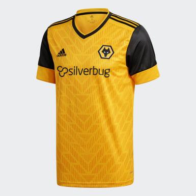 Børn Fodbold Gul Wolverhampton Wanderers 20/21 hjemmebanetrøje