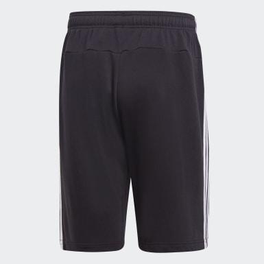 ผู้ชาย โยคะ สีดำ กางเกงผ้าเฟรนช์เทอร์รีย์ขาสั้น Essentials 3-Stripes