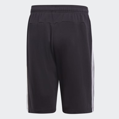 Herr Athletics Svart Essentials 3-Stripes French Terry Shorts