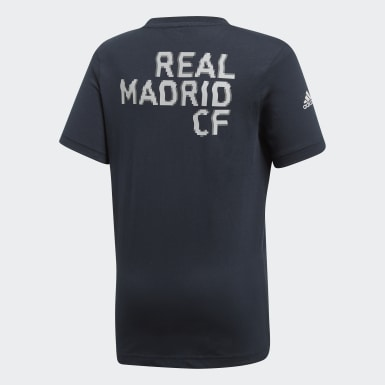 Youth Football Grey Real Madrid Graphic Tee
