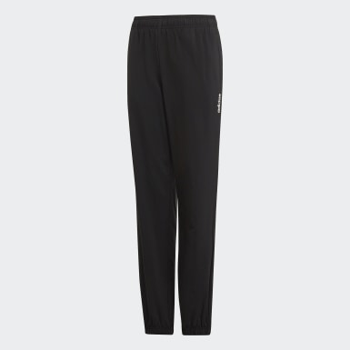 Boys Lifestyle Black Essentials Plain Stanford Pants