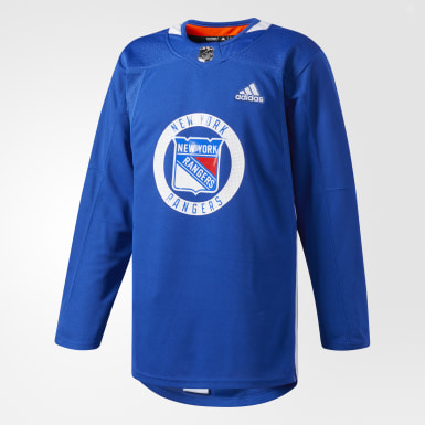 Men's Hockey Multicolor Rangers Authentic Practice Jersey