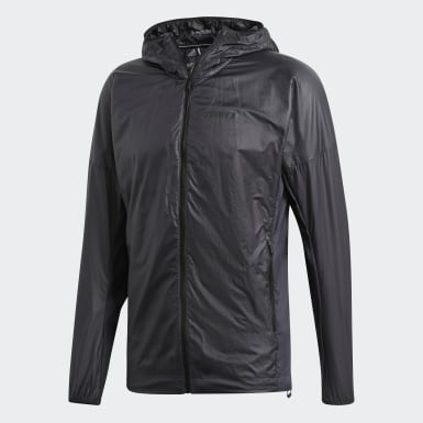 Mænd TERREX Grå Terrex Agravic Alpha Hooded Shield windbreaker