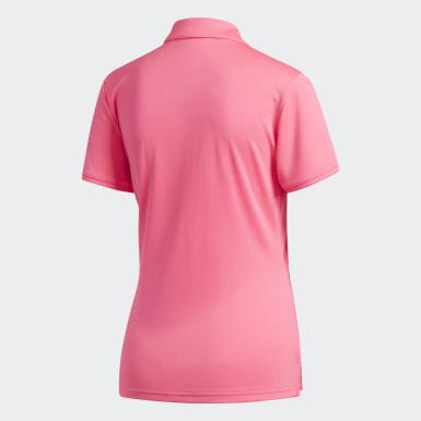 Women Golf Pink Tournament Polo Shirt