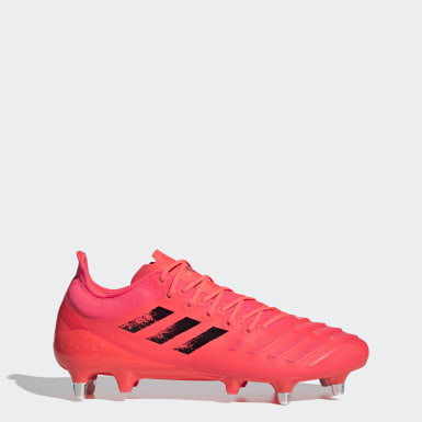 Rugby Pink Predator XP Soft Ground Boots