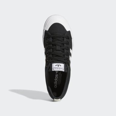 ผู้หญิง Originals สีดำ รองเท้าพื้นหนา Nizza