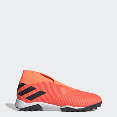 Fotbal oranžová Kopačky Nemeziz 19.3 Laceless Turf