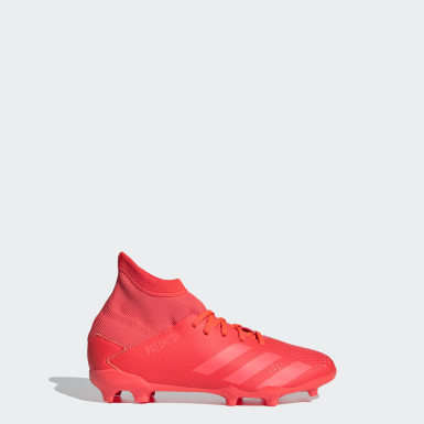 Boys Fotboll Röd Predator 20.3 Firm Ground Boots