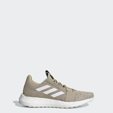 Youth 8-16 Years Running Beige Senseboost Go Shoes