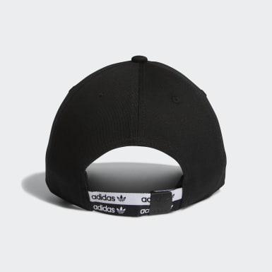 Men's Originals Black Stacked Forum Strap-Back Hat