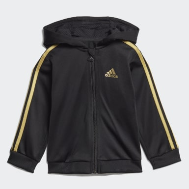 Tuta Shiny Hooded Nero Bambini Training