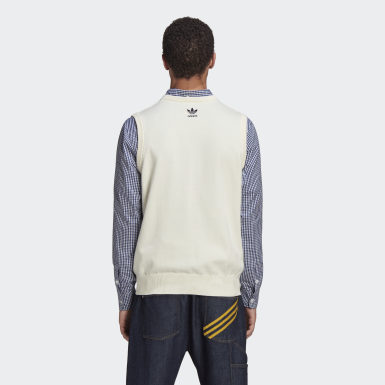 Men's Originals Beige Human Made Knit Vest