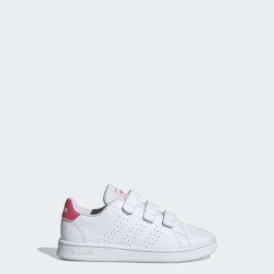 Kids 4-8 Years Lifestyle White Advantage Shoes