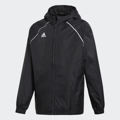 Youth 8-16 Years Training Black Core 18 Rain Jacket