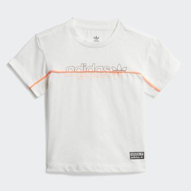 Kinderen Originals Wit Legging T-shirt Setje
