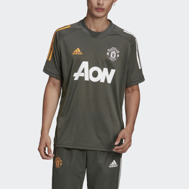 Men Football Green Manchester United Training Jersey