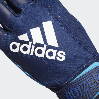 Football Blue Adizero 9.0 Highlighter Receiver Gloves
