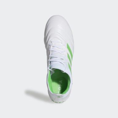 Calzado de Fútbol Copa 19.1 Terreno Suave Blanco Hombre Fútbol