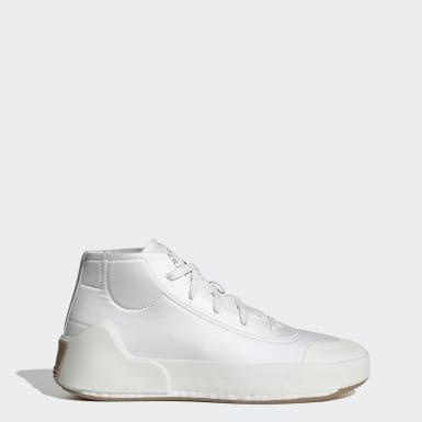ผู้หญิง adidas by Stella McCartney สีขาว รองเท้าทรงมิดคัท adidas by Stella McCartney Treino