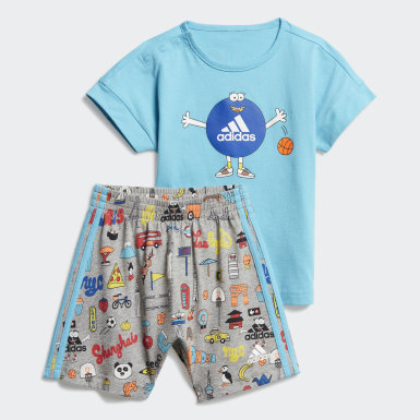 Conjunto Cleofus Summer (UNISSEX) Azul Kids Training
