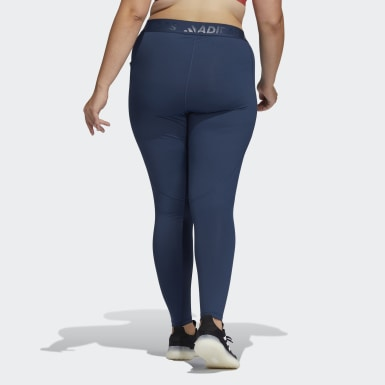 Women's Training Blue Techfit High-Rise Long Tights (Plus Size)