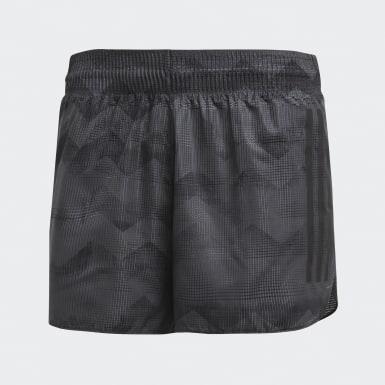 Men Running Grey Adizero Split Shorts