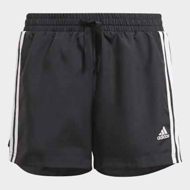 Girls Lifestyle Black adidas Designed To Move 3-Stripes Shorts