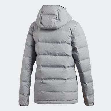 Women Outdoor Grey Helionic Down Jacket