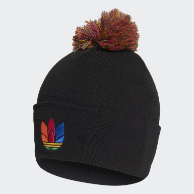 Originals Black 3D Adicolor Pompom Cuff Beanie