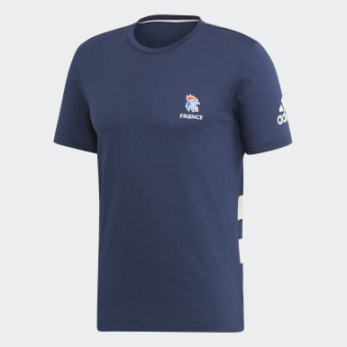 Männer Handball French Handball Federation T-Shirt Blau