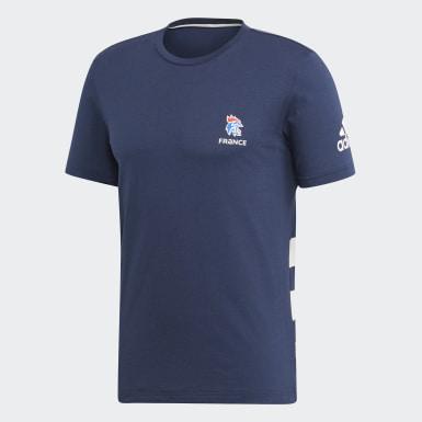 T-shirt Fédération Française de Handball Bleu Hommes Handball