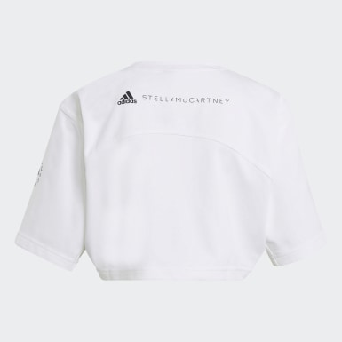 Frauen adidas by Stella McCartney adidas by Stella McCartney Future Playground Cropped T-Shirt Weiß