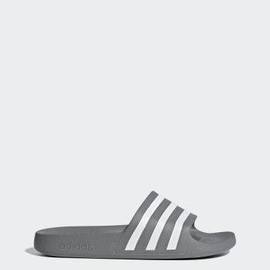 Men Swimming Grey Adilette Aqua Slides