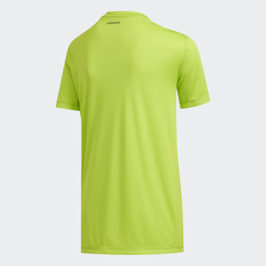 Youth Training Green Speed Lines Badge of Sport Tee