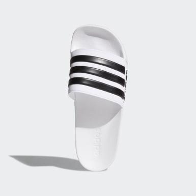 ว่ายน้ำ สีขาว รองเท้าแตะ Adilette Shower
