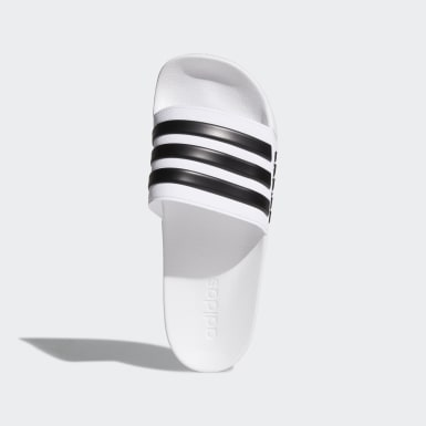 Essentials White Adilette Shower Slides