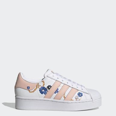 ผู้หญิง Originals สีขาว รองเท้า Superstar Bold