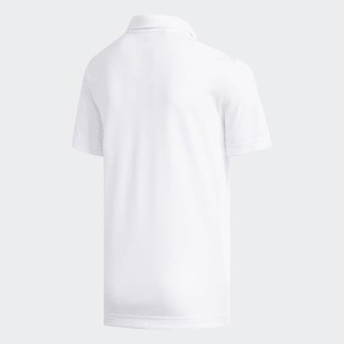 Boys Golf White Badge of Sport Polo Shirt