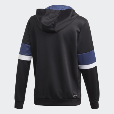 Blusa Capuz Equipment Preto Meninos Training